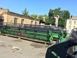 Reaper flacks John Deere 925 of 7.6 meters of working width from USA