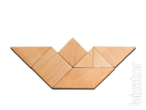 Children's Tangram puzzle made of plywood, shipping from Kharkov Ukraine