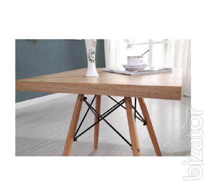 Dining table tower wood W, wood, 80*80 cm color natural wood