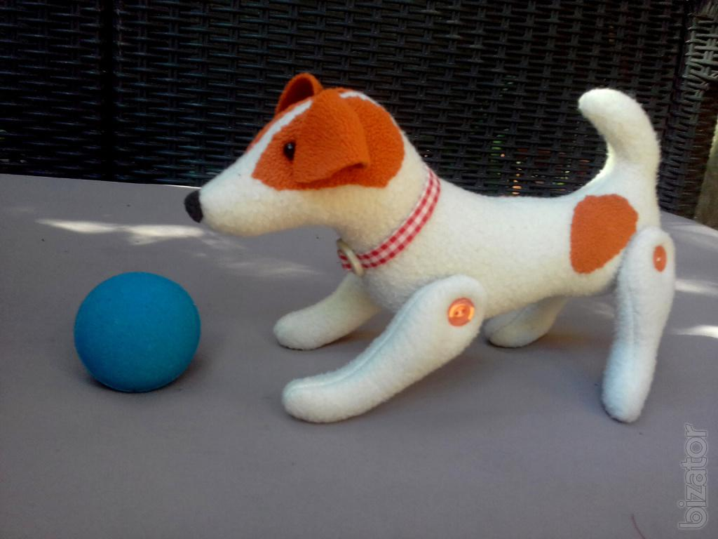 Squishy Dog Toys : The author's soft toy dog Jack Russell, handmade (hand-made) - Buy on www.bizator.com