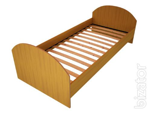 Wooden beds, metal Beds backless chipboard, Bed in a hostel, Beds for temporary shelters, huts, Beds wholesale