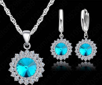 Serebryanye earrings+ pendant on silver chain