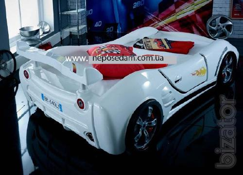 """Children's bed in a car """"Extra turbo power"""" + gift"""