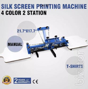 Screen carousel 4x2 machine for printing on t-shirts