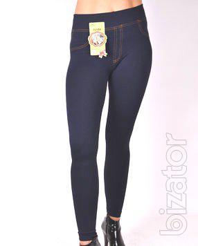 Leggings jeans fur seamless 46-50
