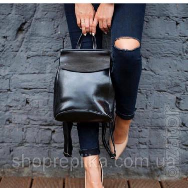 Leather backpack bag convertible ss258454 black , Genuine leather, premium-Quality