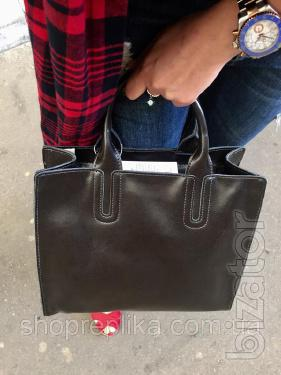 Bag genuine leather ss258458 leather bags graphite black , milk