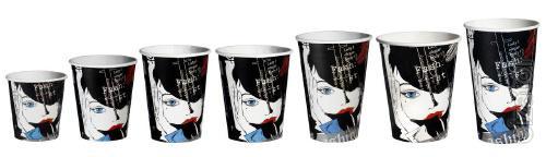 Line of paper Cups Retro
