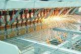 Automatic line for production of welded mesh panels fences