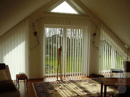 Vertical blinds, fabric, plastic