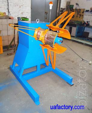 Uncoiler for metal coil RRM-400 console reversible