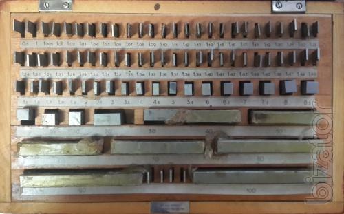 Концевые меры длин плоскопараллельные 1-Н2 38 шт. ГОСТ 9038-83; комплект №1 83 шт.