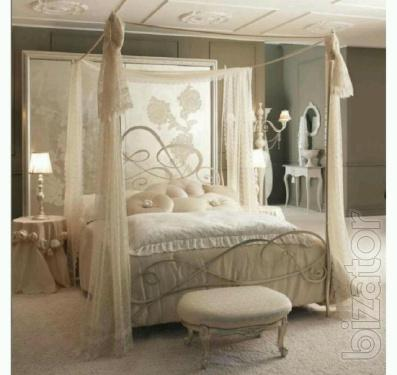Bed wrought iron canopy bed Novella