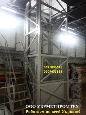 Industrial mine hoists g/p 1000 kg, 1 ton under the order. Industrial goods lifts -electric lifts to 6300 kg.