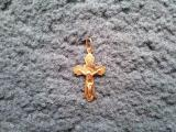 Sell gold pendant cross 585 (Jesus Christ) (b/a)