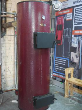 Solid fuel boiler long burning PlusTerm Standard 25 kW (200-300 sq. m.)