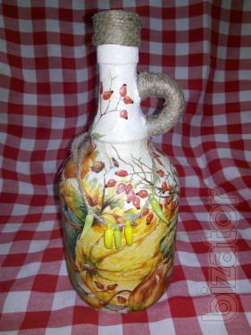 Bright bottle handmade