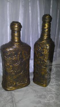 """Decorated multifunction tableware """"Old bronze"""""""