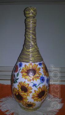 Decorative bottle,author's technique