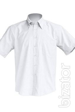 Shirt short sleeve, white, blue