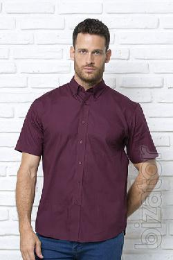 Shirt mens short sleeve, poplin, 100% cotton