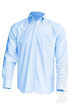 Shirt men's long sleeve, white, pink, blue