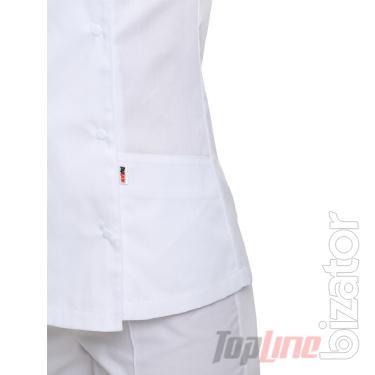Chef's suit women's Bordeaux 2 white No. 3