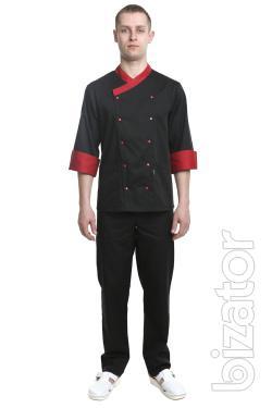 Chef's costume men's Brussels black No. 6