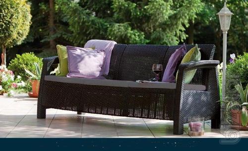 Garden furniture Corfu Love Seat Max Allibert rattan, Keter