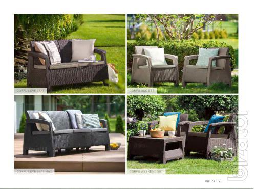 Corfu garden furniture Duo Set Allibert rattan, Keter