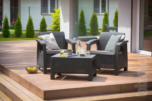 Garden furniture Corfu Weekend Set Allibert rattan, Keter