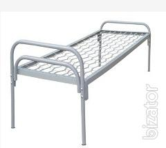 Bed single-tier metal, back metal, 190х70