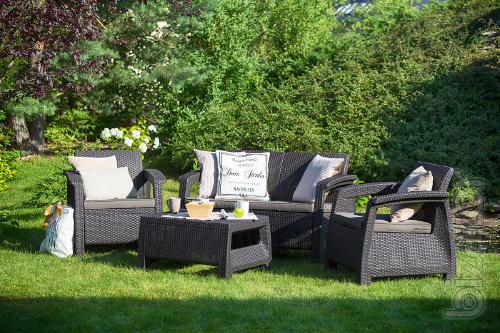 Corfu outdoor furniture Set rattan Allibert, Keter