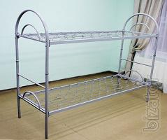 Bed bunk, the back is metal, 190х70