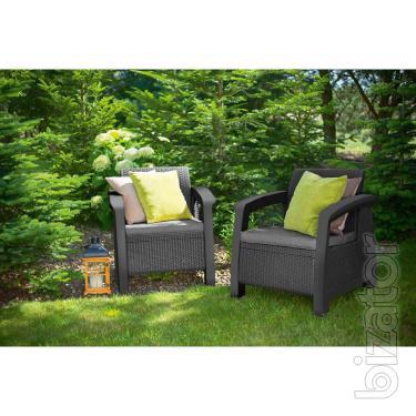 Garden furniture Bahamas Duo Set Allibert rattan, Keter