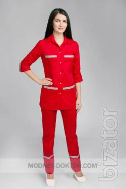 Clothes for workers of emergency medicine