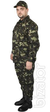 The camouflage suit from Greta