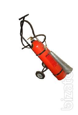 The mobile carbon dioxide fire extinguisher OU-25, VVK-18