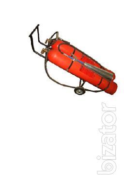 The mobile carbon dioxide fire extinguisher OU-80 VVK-56