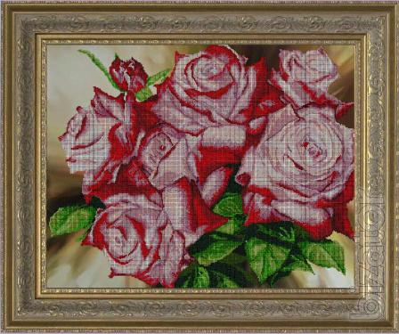 Kits for embroidery with beads and thread