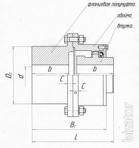 Clutch gear У04.27СБ, the intermediate shaft (promoval)