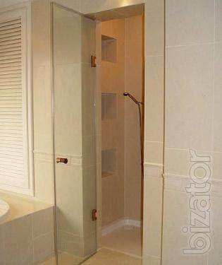 Door for shower, glass door to the shower
