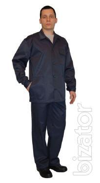 Suit worker, jacket, pants, t green, t blue, electrician