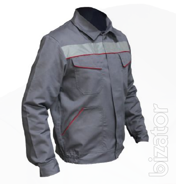 Working grey suit Riot, jacket, bib