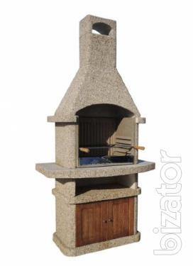 Barbecue of heat-resistant concrete. inexpensive