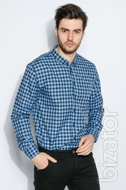 Shirt men's classic plaid