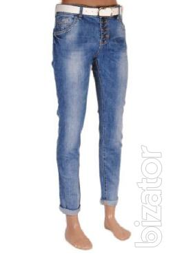 Female youth jeans wholesale from 200 UAH