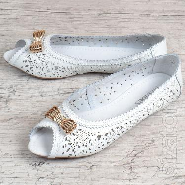 Womens ballet flats leather perforated Mosaic Turkey 5 colors