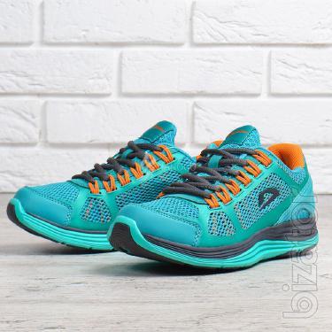 Demax sneakers women mesh lightweight turquoise and orange