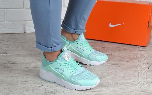 Running shoes womens Nike Air Huarache Ultra mint mint white